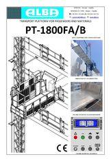καινούρια εξέδρα εργασίας PT ALBA 1800FA/B